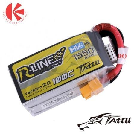 باتری لیتیوم پلیمر 100C-4S1P-15.2V-1550mah