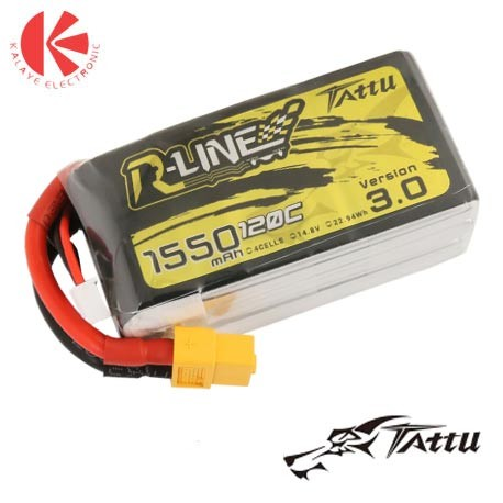 باتری لیتیوم پلیمری R-Line 1550mAh 14.8V 120C-4S