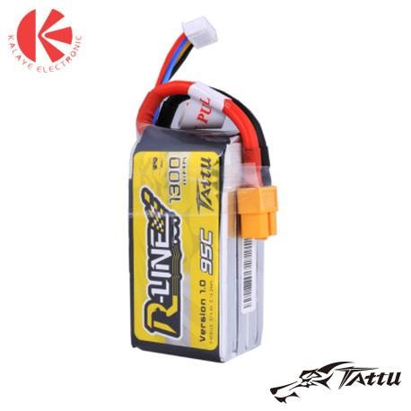 باتری لیتیوم پلیمری R-Line 1300mAh 14.8V 95C-4S